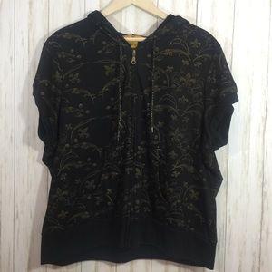 3X Drama Gold Hooded Vest